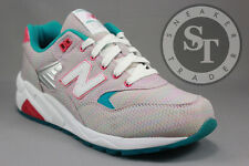 NEW BALANCE CLASSICS WOMEN'S WRT580AK SORBET PACK GREY RAINBOW CORAL SIZE: 8