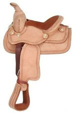 8 Inch Miniature Horse Western Saddle - Roughout Leather - King Series
