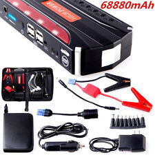 68800mAh High Power Car Jump Starter Power Bank Rechargable Battery 4USB Charger