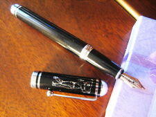 Collectible Classic Thick Bodied Black Golfer Fountain Pen 609