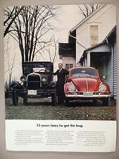 Volkswagen VW Beetle Bug PRINT AD - 1963 ~~ 1929 Ford Model A