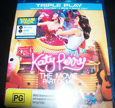 Katy Perry Movie Part Of Me - Australian Region B/4) Blu-Ray Blu-ray + DVD  New