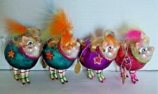 Katherine's Collection ~ Showgirl Pigs Ornaments ~ Set of 4 ~ Retired