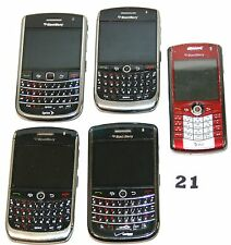 Cell phones   Blackberry lot of 5 -Sold  As Is - No Cords, Untested  #21