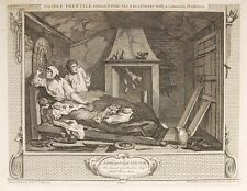 WILLIAM HOGARTH Industry and Idleness. Complete set of 12 engravings, 1747