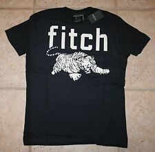 NWT Abercrombie Boys Small Size 7/8 Glow in the Dark Blue Tiger T-Shirt