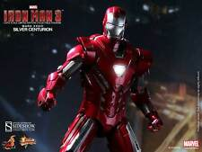 "Hot Toys Iron Man Silver Centurion Mark 33 1/6 Scale Figure 12"" Tony Stark New"