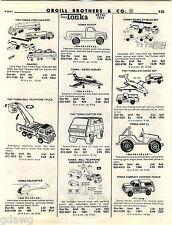 1981 ADVERT 6 PG Toy Tonka AJ Foyt Race Team Trucks Duncan Batmobile Batman