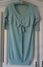*Excellent* CG Collections Aqua Blue Cotton Knitted Tunic Dress XL UK 14