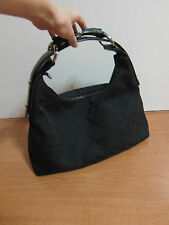 AUTH GUCCI BLACK HOBO BAG