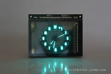 VFD48-USB Powered-Analog-style Unique Round VFD Clock-NIXIE TUBE ERA-NoEnclosure