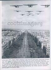 1960 Military Planes Fly Over Avenue de la Grande Armee 1960s Paris Press Photo