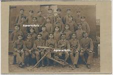 Foto Soldaten Maschinengewehr-Abteilung mit MG 08  1.WK (397)