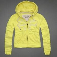 ABERCROMBIE & FITCH Yellow Front Zip Front Hoodie Coat Jacket L NWT FREE SHIP