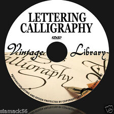 151 Rare Books Lettering Monograms Ciphers Sign Writing & Calligraphy ON DVD