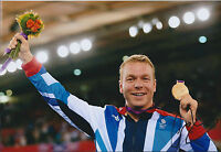 Sir Chris Hoy Signed 12x8 Autograph Photo AFTAL COA Olympic Gold Medal Winner
