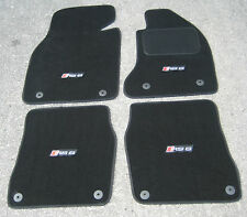 Deluxe Car Mats in Black SUPER VELOUR to fit Audi RS6 C5 (2002-2004) + RS6 Logos