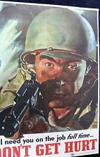MILITARY POSTERS WORLD WAR TWO ARMY NAVY MARINES 1940'S AMERICAN