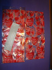 NEW 15ea Valentine's Day Treat Bags 9 1/2 x 4 x 2 Happy Valentine's Day Graphic