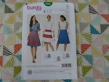 Burda 6904 Misses' EASY flared tiered SKIRT sewing pattern sizes 8 thru 20