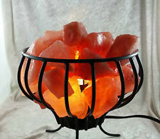 Himalayan Natural Rock Flower metal salt lamp with on/off switch