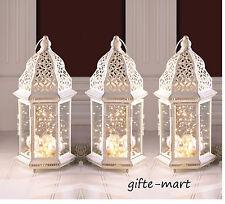 """5 large White Moroccan 16"""" whitewashed Candle holder lantern wedding centerpiece"""