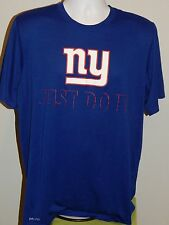 Nike Dri-Fit NEW YORK GIANTS Blue SS T-Shirt Tee Men's Large JUST DO IT