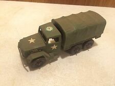 RARE VINTAGE ORIGINAL STICKER PROCESSED PLASTIC CO ARMY TRANSPORT TRUCK TOY