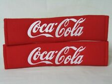 Hot Red Coca Cola Seat Belt Cover Shoulder Pads Pair