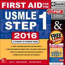 First Aid for the USMLE Step 1 2016 + Q&A [ eBook Edition ]
