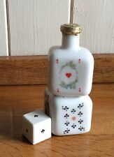 Miniature white glass bottle, BUTON Italy, 2