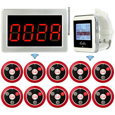 Restaurant Wireless Paging System Watch Receiver Voice Report Host Call Buttons