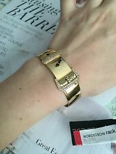 Rachel Zoe bracelet Cuff 14k Gold Plated & Crystals Pave Belt Good Gift NEW$95