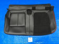 "2013 2014 FORD F150 FX4 LEFT REAR SEAT COVER BOTTOM LEATHER BLACK & RED ""CREW"""