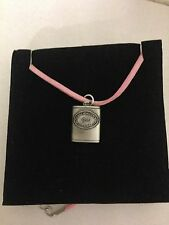 Whisky Hipflask R20 Pewter Pendant on a PINK CORD Necklace