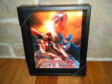 "MARVEL AVENGERS CIVIL WAR 3D Shadow Box  9"" X 11"" CAPTAIN AMERICA VS IRON MAN!!!"