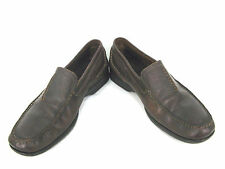 Clarks Shoes Mens 11.5 M Dark Brown Leather Slip On Loafers