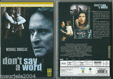 Don't Say A Word (2002) DVD NUOVO Michael Douglas, Brittany Murphy, Sean Bean