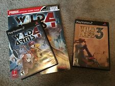 Wild Arms 3 and Wild Arms 4 w/ Strategy Guide Sony PlayStation 2 PS2