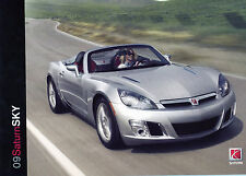 2009 Saturn Sky Deluxe 22-Page Sales Catalog