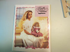RARE 1992 CATALOG DOLL BY PAULINE APPLAUSE 34 PAGES (INCLUDES COVERS) EX COND