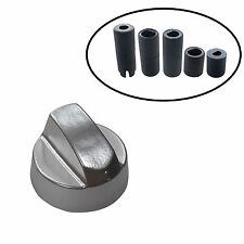 One UNIVERSAL for IKEA Silver Cooker Oven Hob Control Knob & 5 Adapters