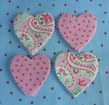 Rare Cath Kidston Ikea Pink Paisley Spot Fabric Material 50 Hearts Patchwork