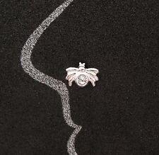 NEU 925 Silber NASENSTECKER SPINNE mit SWAROVSKI STEIN in Crystal/Kristallklar