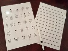 Whiteboard Set  -one lower case letters & a lined sheet - Dyslexia SEN EYFS