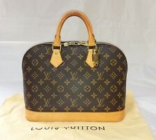 Authentic Louis Vuitton Monogram Alma Hand Bag Purse w/ LV Sleeper Free Shipping