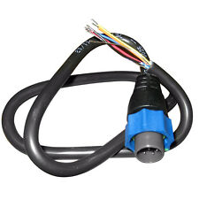 OEM Lowrance/Simrad 7-Pin Blue Connector to Bare Wires Transducer Adapter Cable