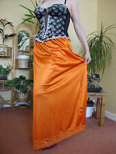 Tangerine Silky With Deep Lace Long Formal Length Half Slip Petticoat L-XXL BNWT