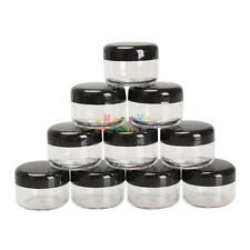 10 Pcs Clear Plastic Cosmetic Sample Container 5 Grams Jars Pot Empty