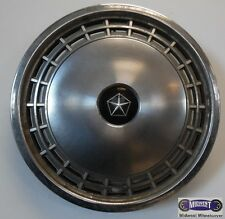 """'83-'85 DODGE ARIES, PLYMOUTH RELIANT, 13"""" USED HUBCAP, CHROME LOGO, 441"""